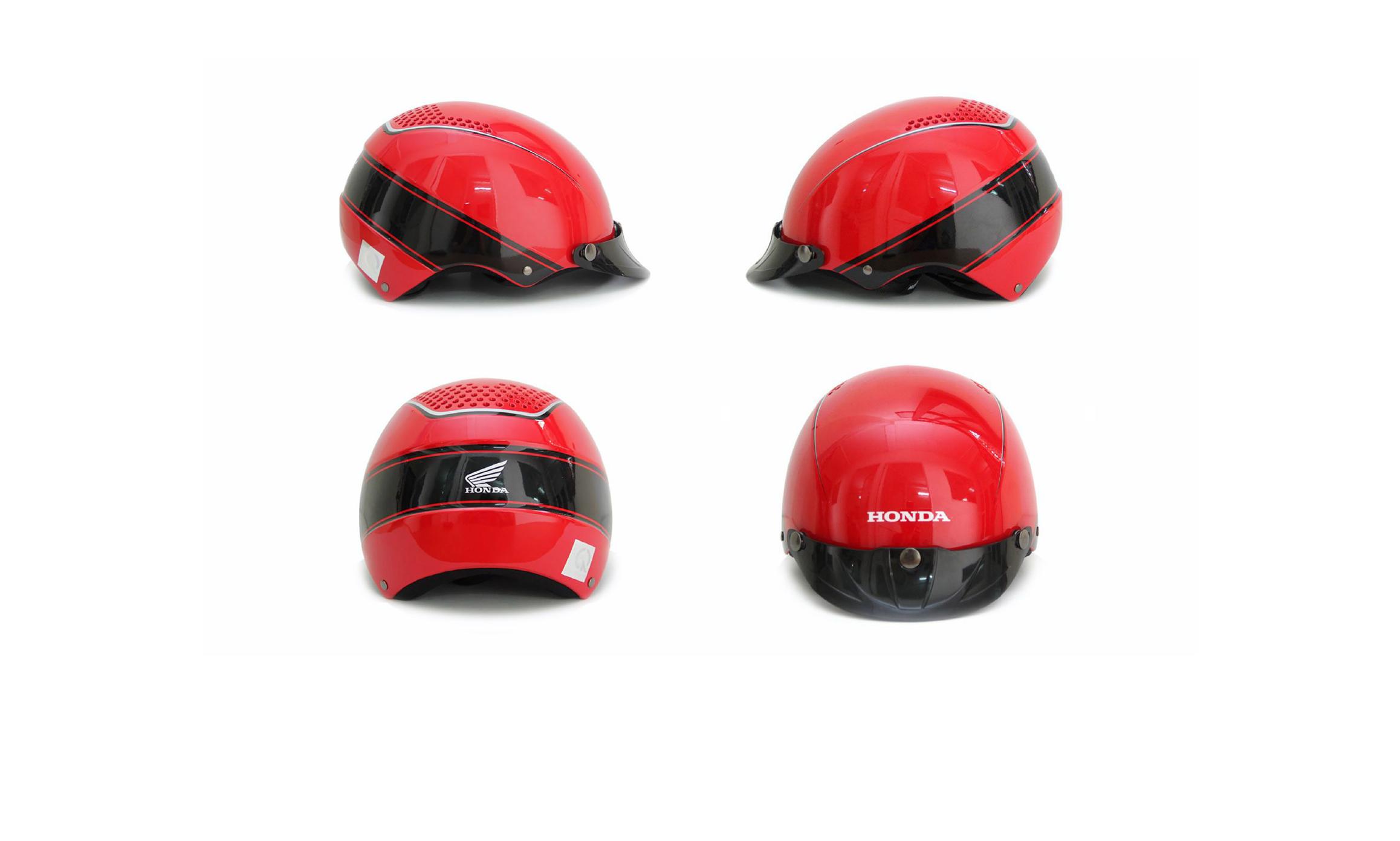 Protec tự hào là đơn vị sản xuất mũ bảo hiểm quảng cáo cho hãng xe máy Honda