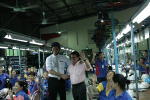 Australian Ambassador visits AIP Foundation's Protec Tropical Helmet Factory