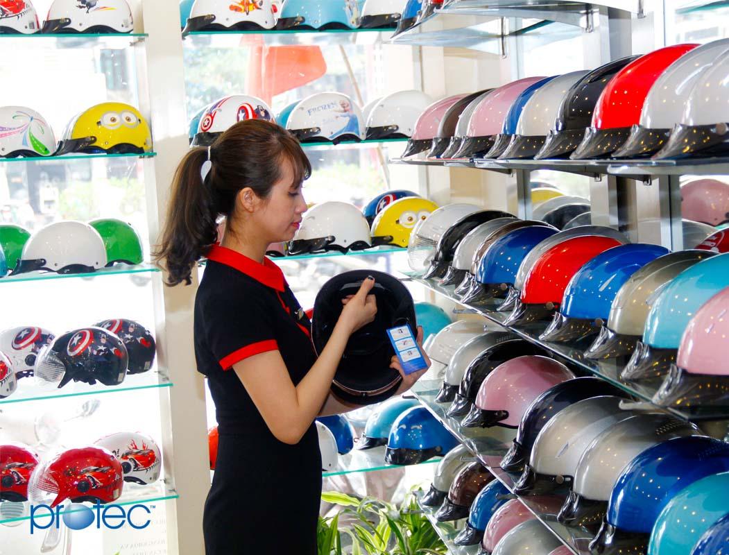 Cửa hàng bán mũ bảo hiểm đạt chuẩn Protec tại Trường Chinh