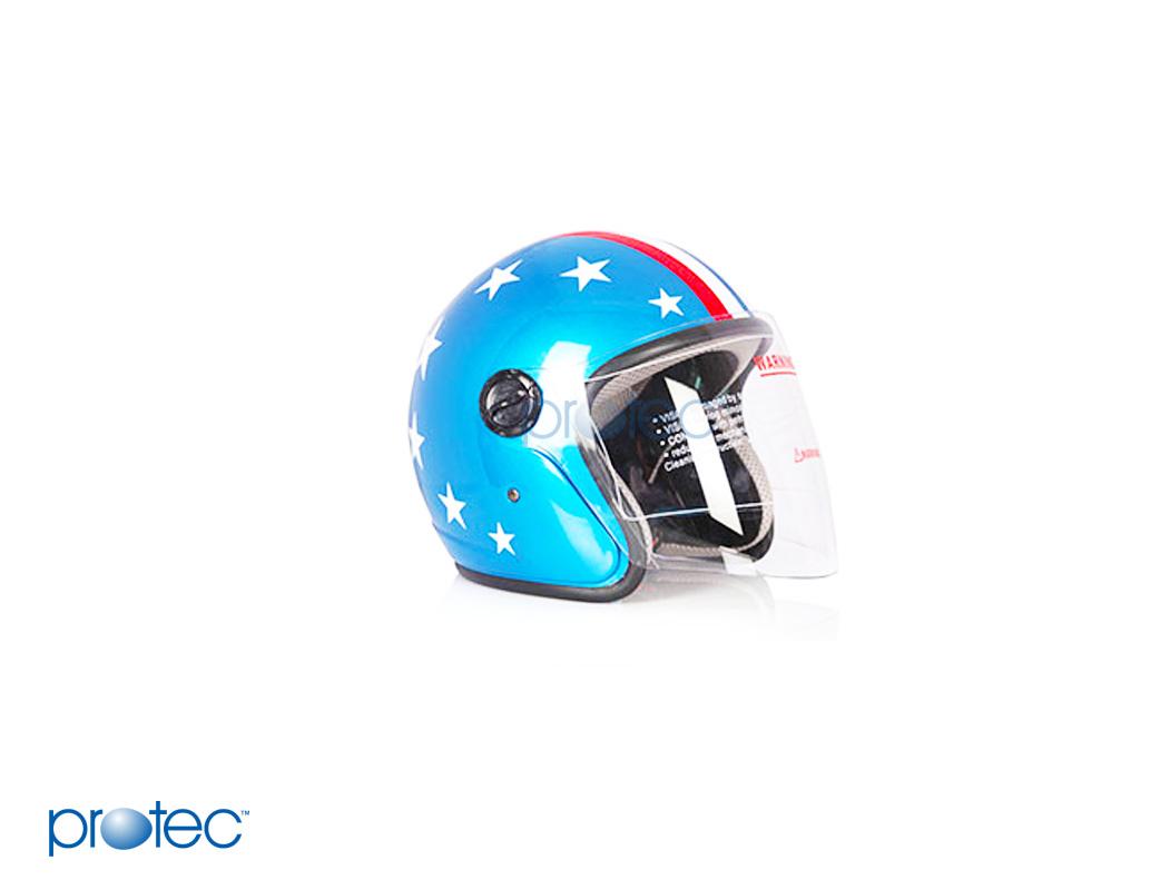 Mũ bảo hiểm có kính racing protec
