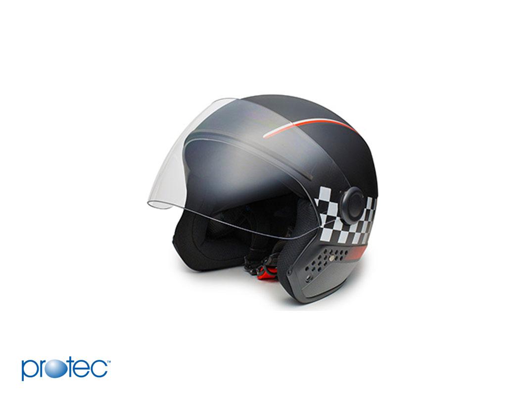 Một chiếc mũ bảo hiểm đạt chuẩn từ thương hiệu Protec