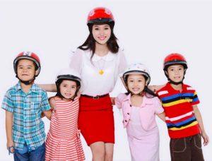 Tư vấn chọn mua mũ bảo hiểm trẻ em 3 tuổi