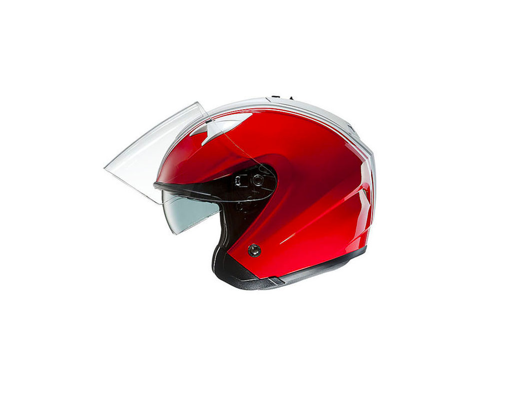 Mũ bảo hiểm 3/4 đỏ sọc trắng cá tính