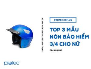 Top 3 mẫu mũ bảo hiểm 3/4 cho nữ: an toàn – đẹp – nhẹ