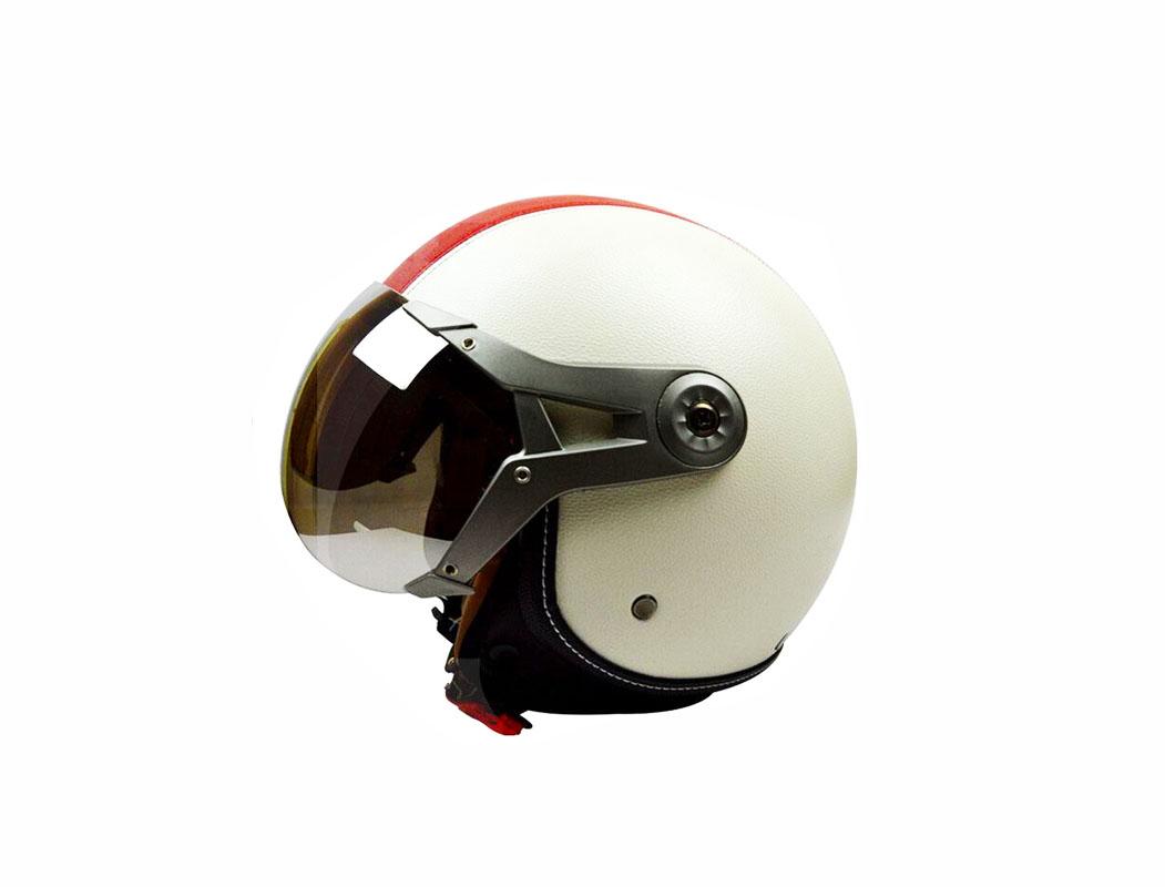 Mũ bảo hiểm 3/4 đầu 2 lớp kính