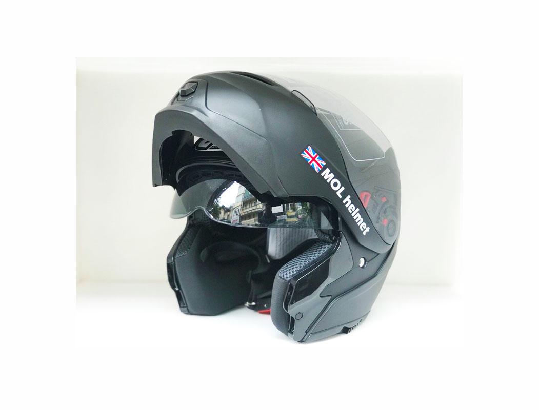 Mũ bảo hiểm lật hàm 2 lớp kính