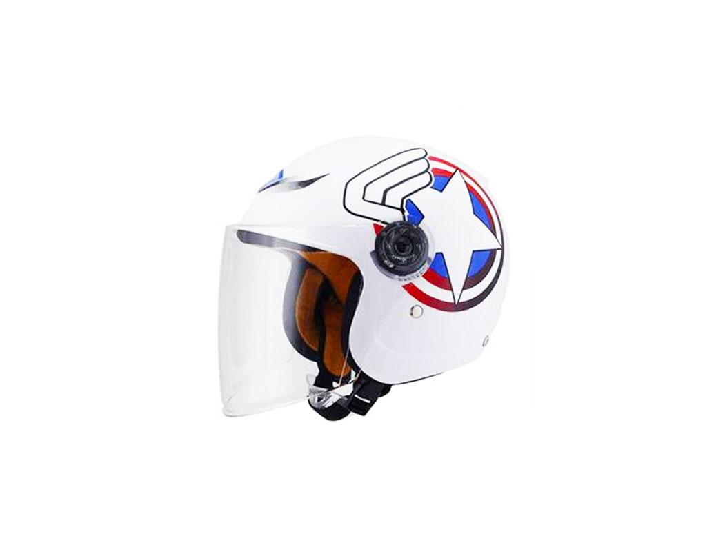 Mũ bảo hiểm trẻ em 3/4 họa tiết ngôi sao