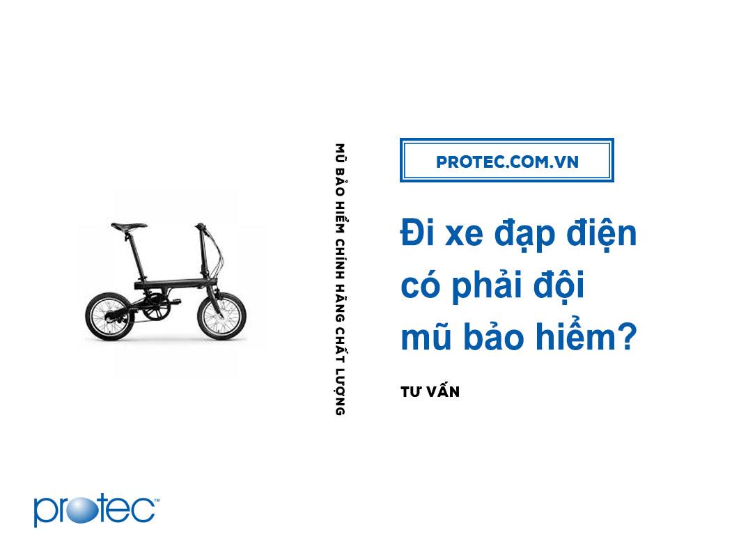 Đi xe đạp điện có phải đội mũ bảo hiểm