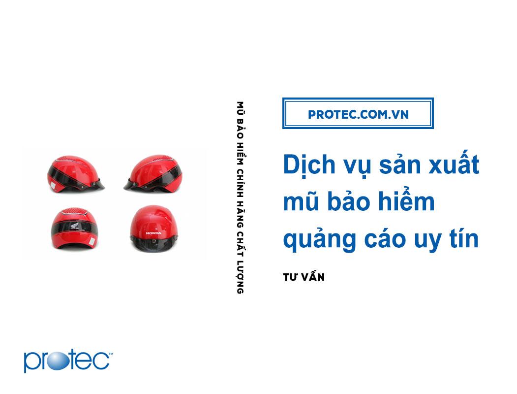 Dịch vụ sản xuất mũ bảo hiểm quảng cáo