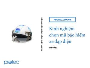 Kinh nghiệm chọn mũ bảo hiểm xe đạp điện theo luật 2019