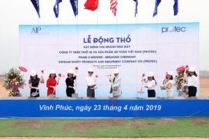 Lễ động thổ khởi công Nhà máy sản xuất mũ bảo hiểm thứ 2 của Protec