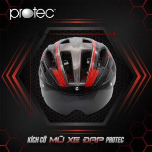 Kích cỡ mũ bảo hiểm xe đạp Protec