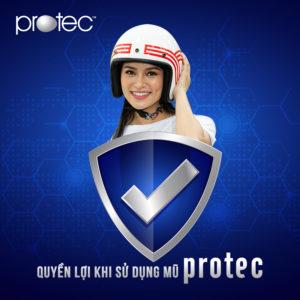 Giảm giá 50% cho khách hàng đổi mũ bảo hiểm Protec bị tai nạn