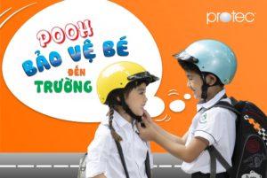 Mũ bảo hiểm PROTEC POOH bảo vệ bé khi đến trường