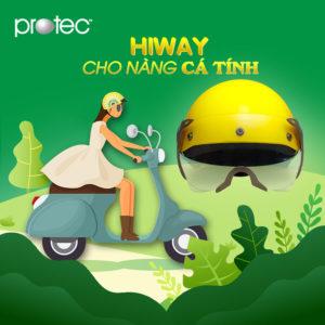 Mũ bảo hiểm Protec Hiway – Mũ bảo hiểm cá tính cho các nàng