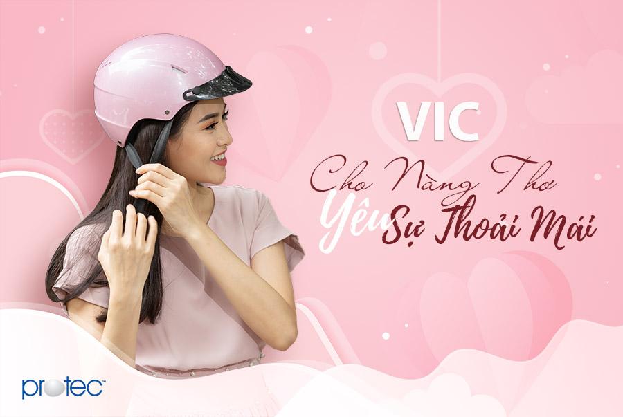 Mũ bảo hiểm Protec VIc - Cho con gái yêu sự thoải mái