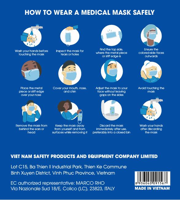 Cách đeo khẩu trang y tế
