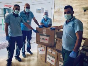 10.000 khẩu trang và găng tay do Protec trao tặng đã đến thủ đô Beriut