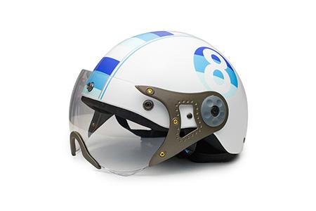 Các loại mũ bảo hiểm nửa đầu có kính trên thị trường