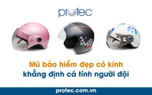 Mũ bảo hiểm đẹp có kính khẳng định cá tính người đội